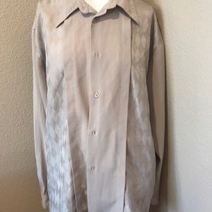 Vintage Men's beige Pronti Dress shirt Sz.XXL
